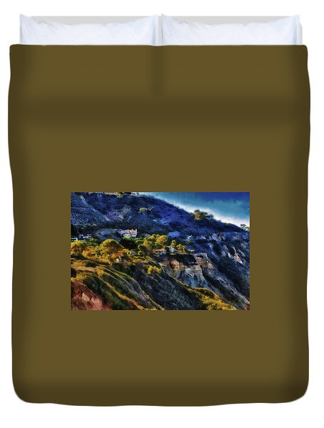Modern Cliff Dwellers Duvet Cover by Joseph Hollingsworth