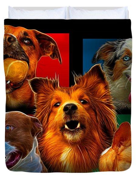 Modern Dog Art - 0001 Duvet Cover
