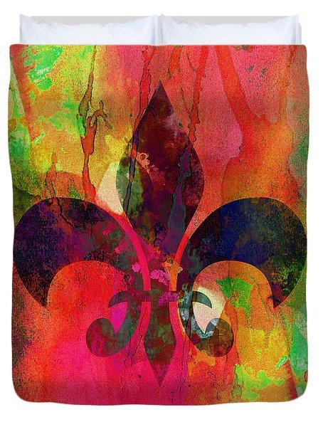 Modern Fleur De Lys Duvet Cover