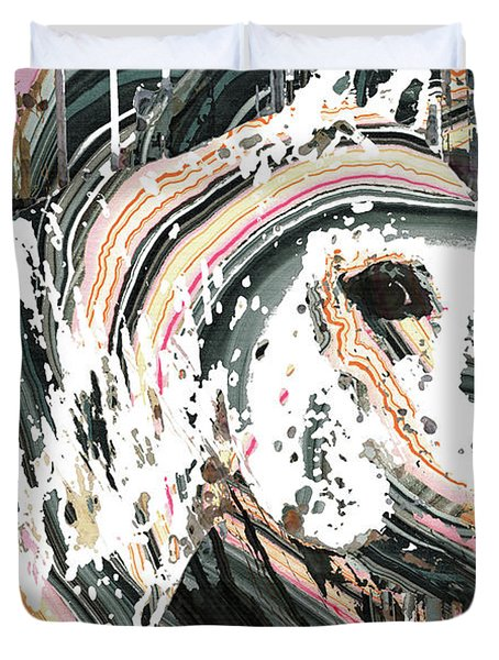 Modern Horse Art By Sharon Cummings Duvet Cover