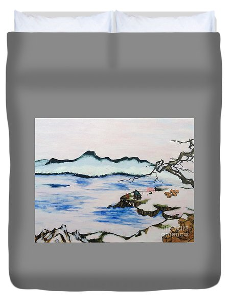 Modern Japanese Art In The Shadow Of The Past - Utsumi And Kano School Duvet Cover by Sawako Utsumi