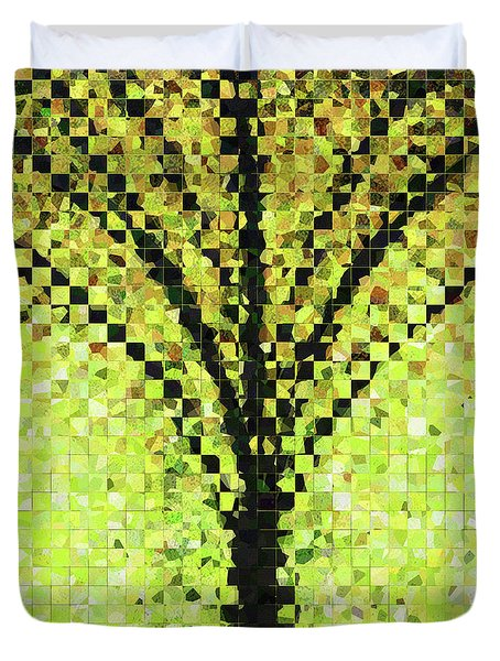 Modern Landscape Art - Pieces 10 - Sharon Cummings Duvet Cover by Sharon Cummings