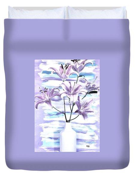 Modern Lilies Duvet Cover