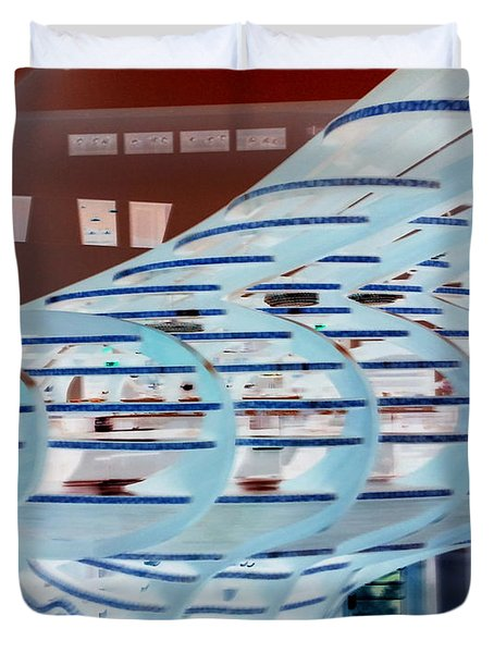 Ghostly Shopping Mall Duvet Cover