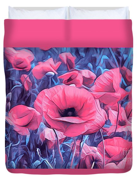 Modern Poppies Duvet Cover