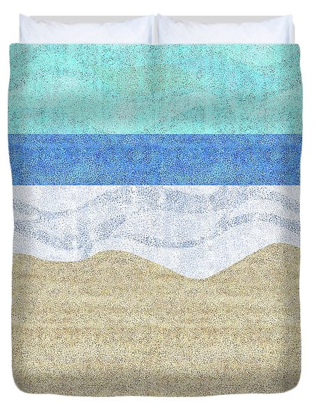 Modern Sandy Beach Duvet Cover