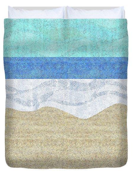 Modern Sandy Beach Duvet Cover