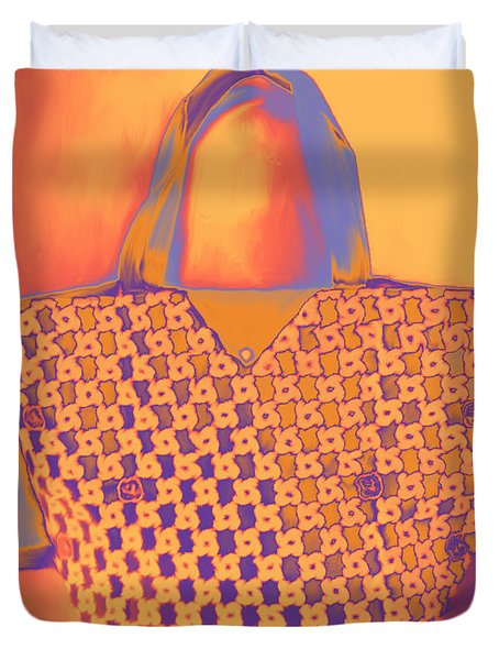 Modern Shopping Bag Duvet Cover