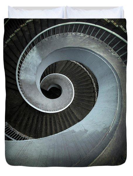 Modern Spiral Stairs Duvet Cover