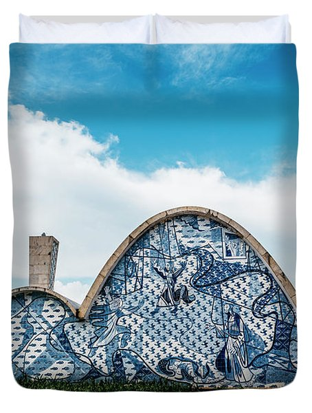 Modernist Church Of Sao Francisco De Assis In Belo Horizonte, Brazil Duvet Cover
