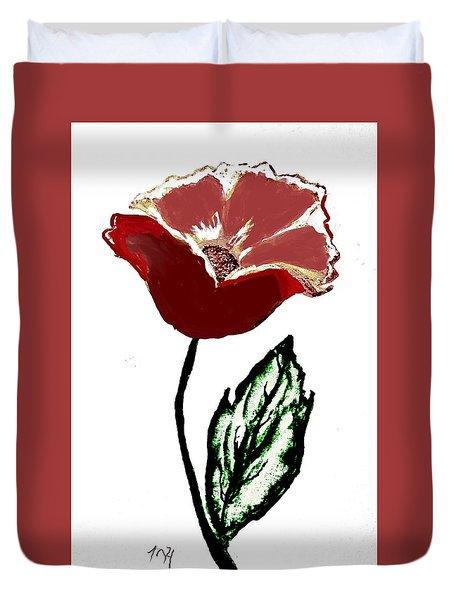 Modernized Flower Duvet Cover by Marsha Heiken