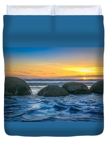 Moeraki Sunrise Duvet Cover by Martin Capek