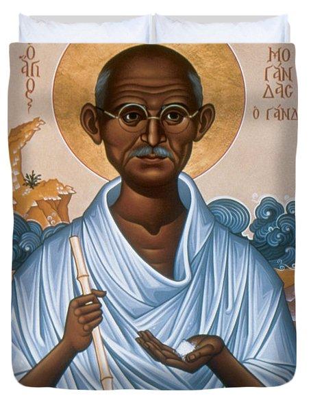 Mohandas Gandhi - Rlmog Duvet Cover