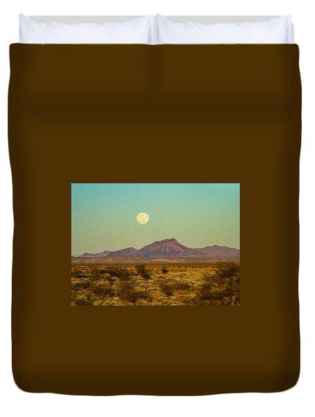Mohave Desert Moon Duvet Cover