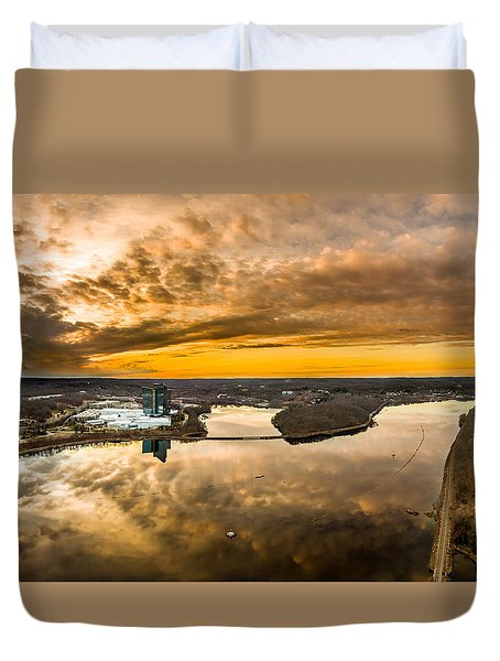 Mohegan Sun Sunset Duvet Cover