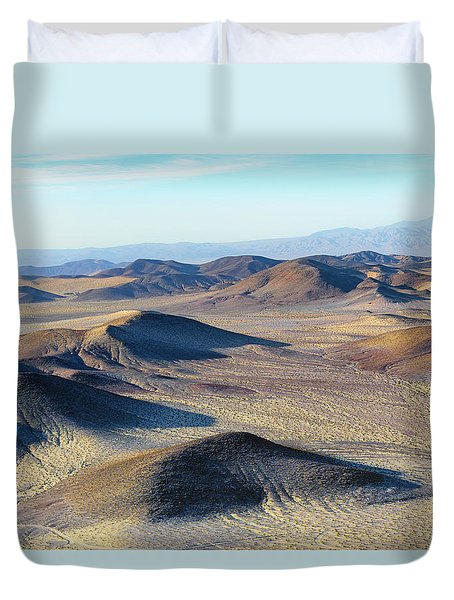 Duvet Cover featuring the photograph Mojave Desert by Jim Thompson