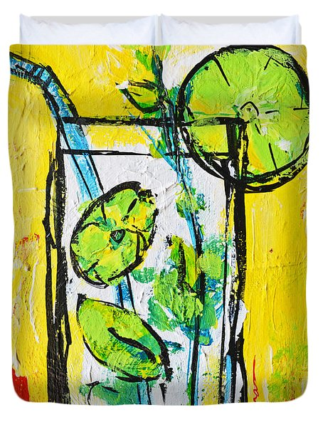 Mojito - Latin Tropical Drink Modern Art Duvet Cover