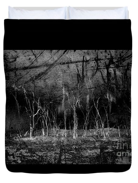 Duvet Cover featuring the photograph Mokoan by Linda Lees