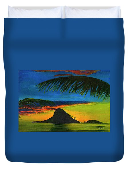 Mokolii Sunset #80  Duvet Cover by Donald k Hall
