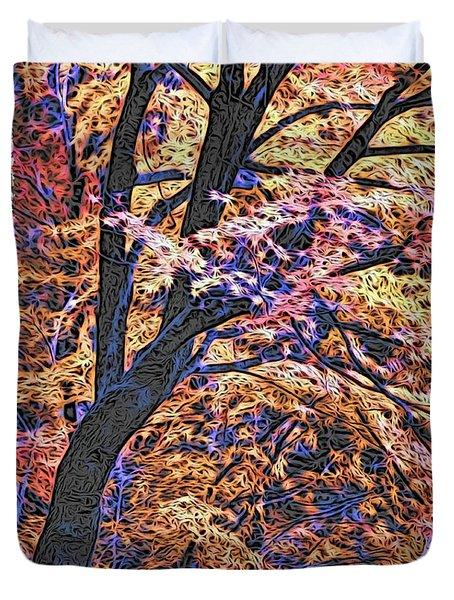 Moku Hanga Autumn Duvet Cover