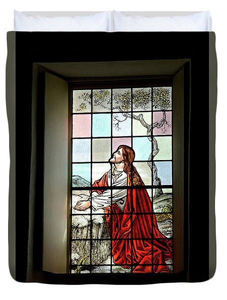 Mokuaikaua Church Stained Glass Window Duvet Cover