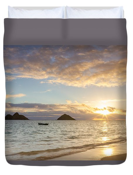 Mokulua Morning Duvet Cover