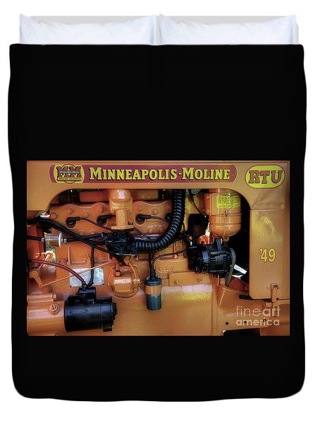 Moline Engine Duvet Cover by Michael Eingle