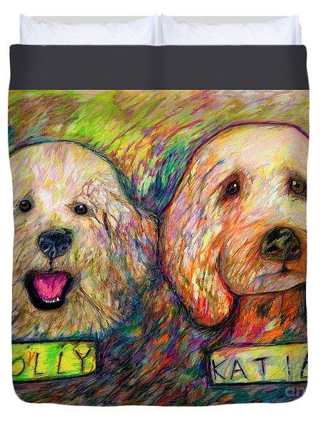 Molly And Katie Duvet Cover