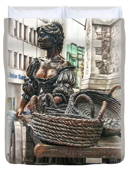 Duvet Cover featuring the photograph Molly Malone by Hanny Heim
