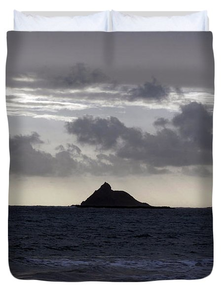 Molokai From Oahu Duvet Cover