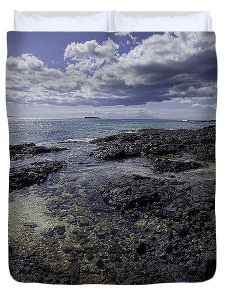 Molokini Beach Duvet Cover