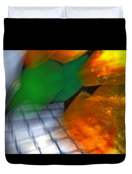 Molten Abstract 1 Duvet Cover