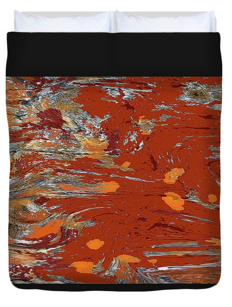 Molten Earth Duvet Cover