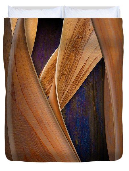 Molten Wood Duvet Cover