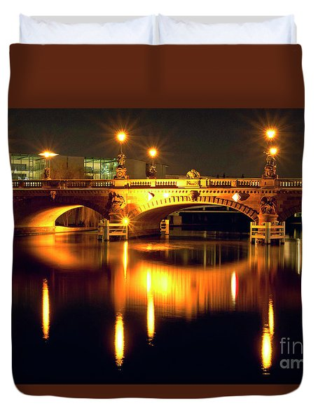 Nocturnal Sound Of Berlin Duvet Cover
