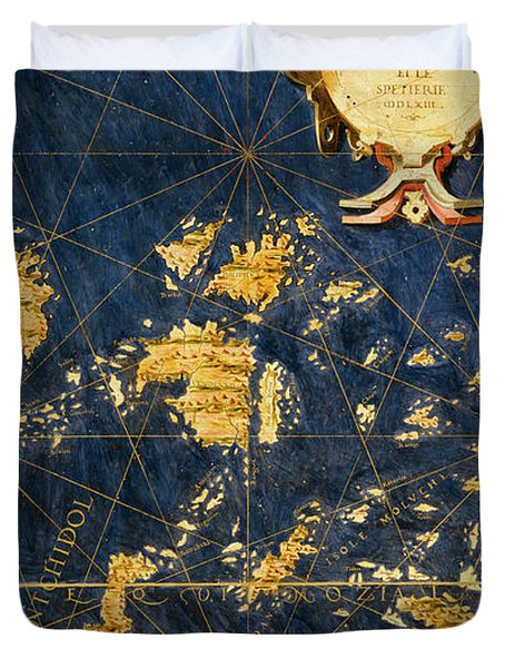 Molucca Islands And Part Of The Philippines Duvet Cover