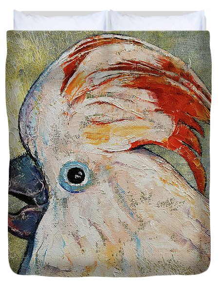 Moluccan Cockatoo Duvet Cover by Michael Creese