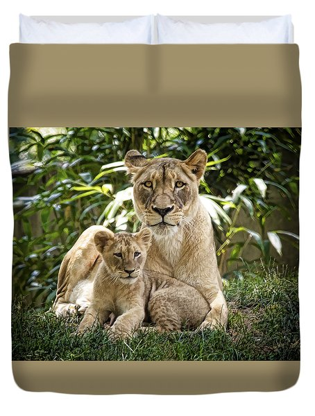 Mom And Baby Duvet Cover