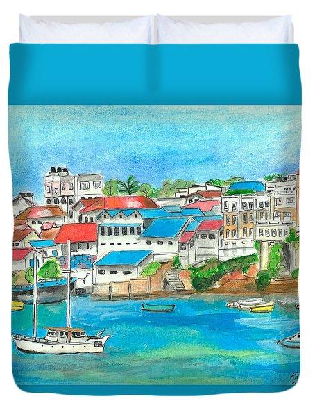 Mombasa Town Duvet Cover