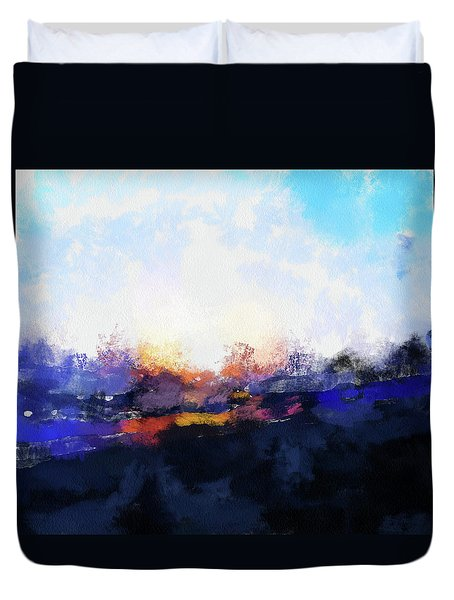 Moment In Blue Spaces Duvet Cover