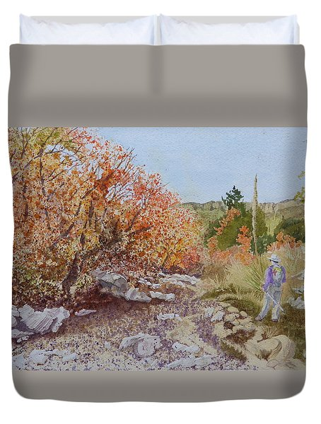 Moment In The Sun - Crossing Tejas Creek Duvet Cover