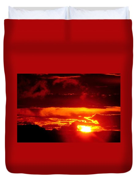Duvet Cover featuring the photograph Moment Of Majesty by Bruce Patrick Smith