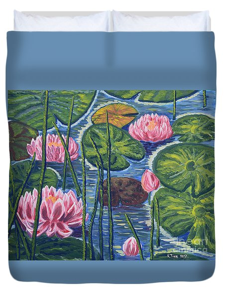Moments On Water Duvet Cover by Felicia Tica