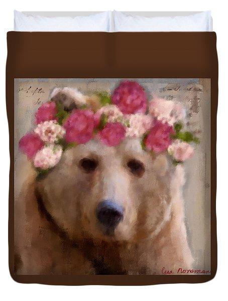 Duvet Cover featuring the digital art Momma Bear by Lisa Noneman