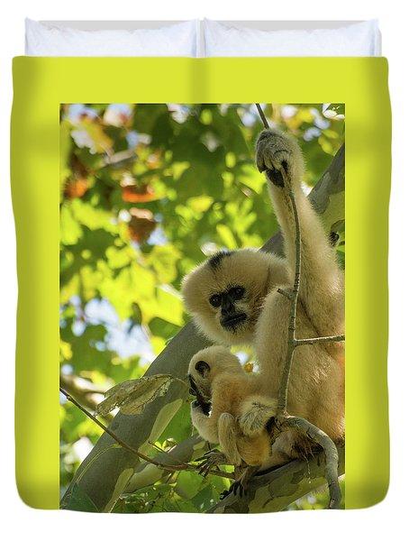 Mommy Gibbon Duvet Cover