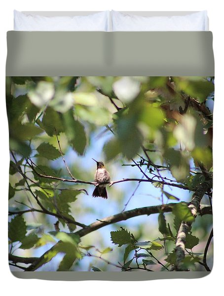 Duvet Cover featuring the photograph Mommy Watching Babies by Debra     Vatalaro