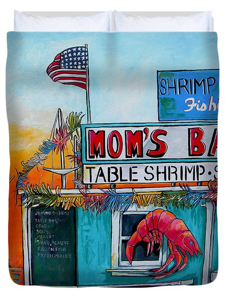 Moms Bait Shop Duvet Cover