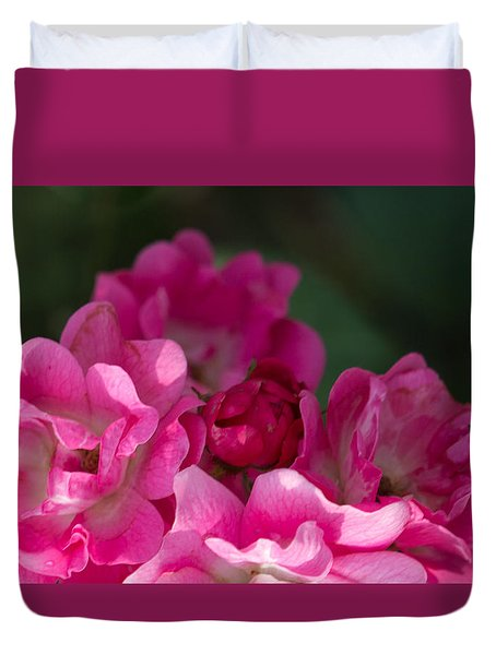 Duvet Cover featuring the photograph Mom's Rose by Cathy Donohoue