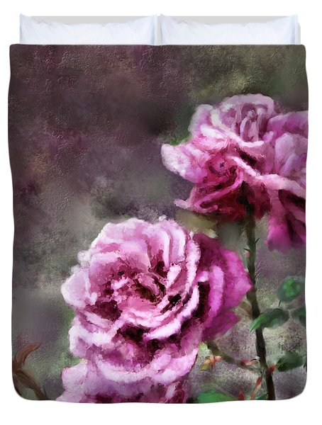 Moms Roses Duvet Cover