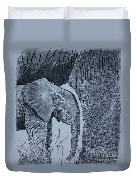 Moms Shadow Duvet Cover